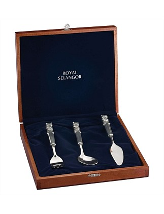 Teddy Bears Picnic Fork/Spoon/Knife In Gift Box