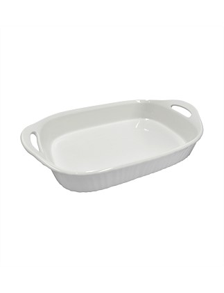 French White 2.85 litre Oblong Casserole