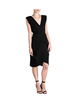 Black Crepe Cocoon Dress