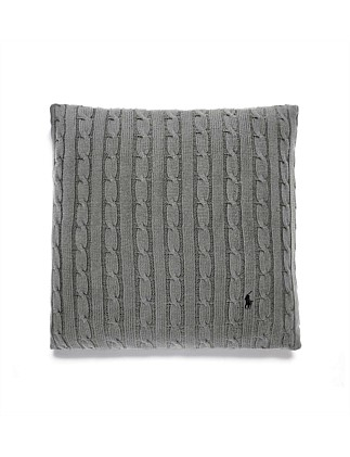 Cable Charcoal Cushion 45x45 W