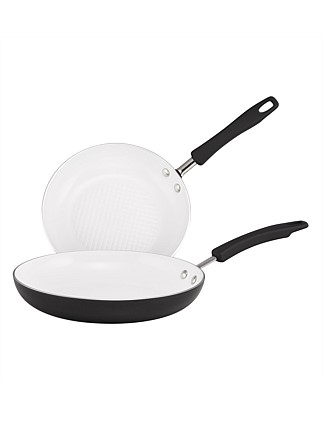 Noir Twin Pack 24cm/28cm Open French Skillet