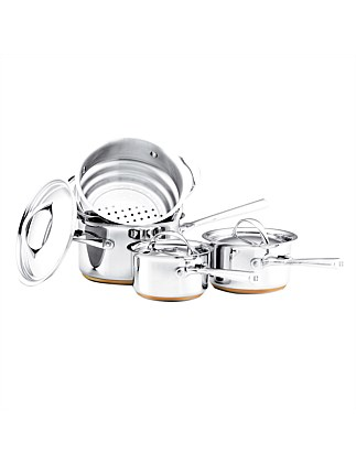 Per Vita Stainless Steel 4 Piece Cookware Set