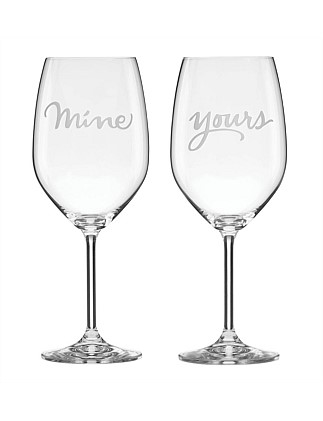 kate spade new york Two of a Kind Wine Pair Mine/Yours