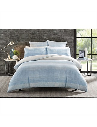 Turlington Teal  Double Bed Quilt Cover