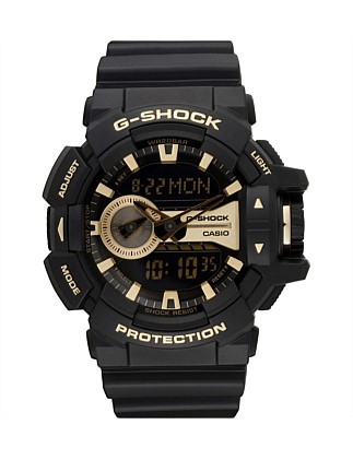 G-Shock Duo Rotary,Blk/Gold, Resin