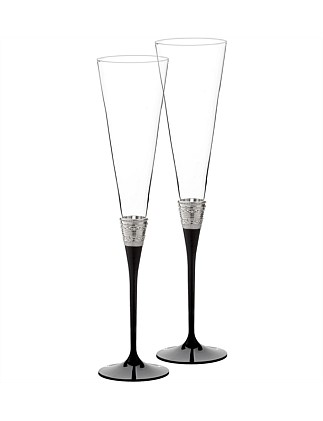 Vera Wang Wedgwood With Love Noir Toasting Flute Pair