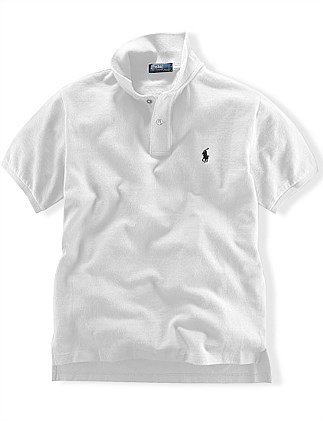 Solid Mesh Polo Shirt 8-14 years