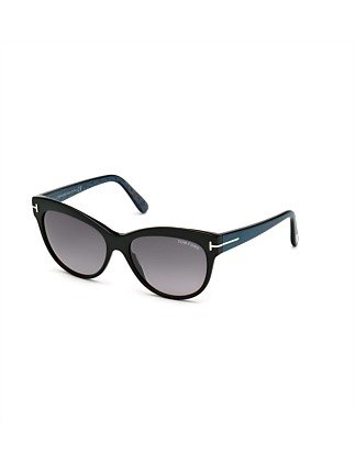 "TOM FORD ""LILY"" LADIES SQUARED ACETATE SUNGLASSES"