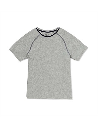 Sleep Tee with Contrast Neck