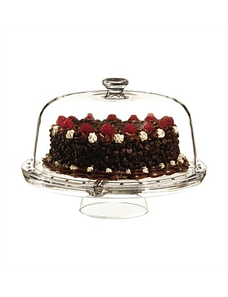 Parma 4-in-1 Footed Cake Plate Dome