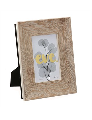 Aspen Scoop Whitewash Photo Frame 4x6