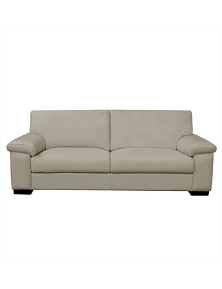 'Thomas' 3-Seater Sofa in Tempus Malt Leather