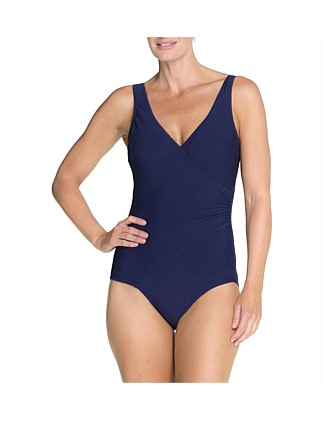 Textured Rib Surplice One Piece