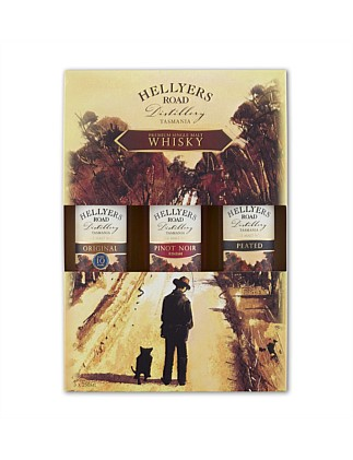 Hellyers Road Gift Pack 3 X 250ml Single Malt Whisky
