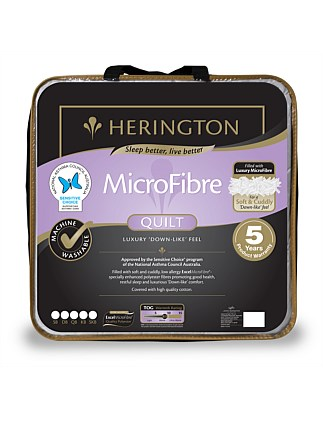 Microfibre Low Allergy Quilt Single