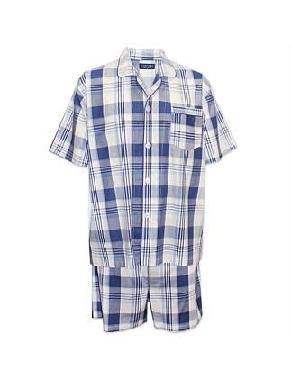 Gingham Check Short Pajama Set