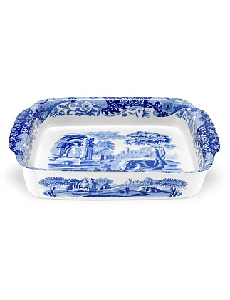 Blue Italian Rectangular Dish