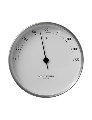 Koppel 10 Cm Hygrometer Stainless Steel With White Dial