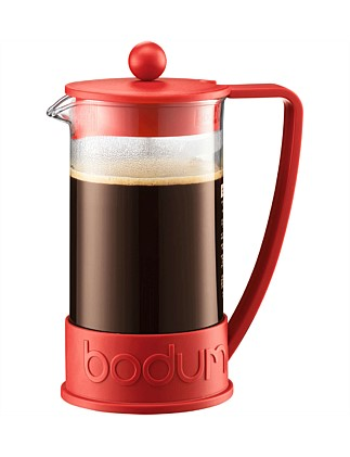 Brazil Coffee Press 8Cup Red