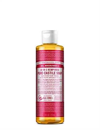 Liquid Castile Soap 237ml - Rose