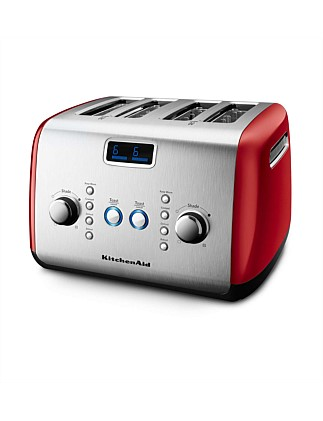 KMT423 4 Slice Red Toaster