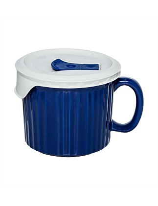 600ml Soup Mug With vented lid Blueberry