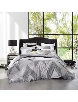 FLAMESTITCH SILVER QUILT COVER SET - KB