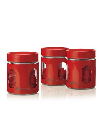 &Maxwell & Williams Cosmopolitan 600ml Canister S/3 Red