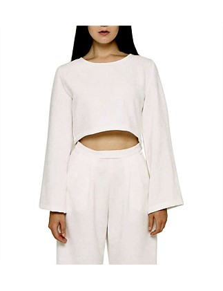 Nadine Long Sleeve Crop Top