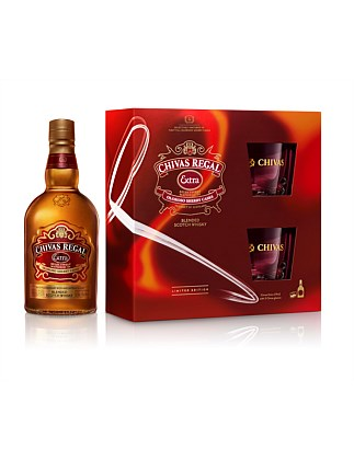 Chivas Regal Extra With Two Glasses