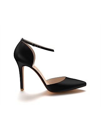 989cb91ce39 Pointed Toe Double D Orsay with Ankle Strap