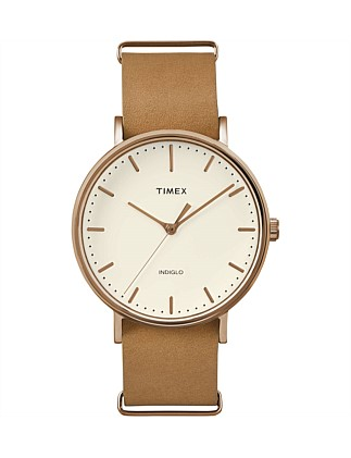 Weekender Tfairfield 41mm Tan Leather Strap