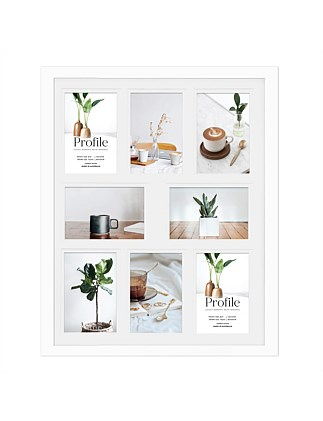 "Encore Timber Photo Frame holds 8 4 x 6"" / 10 x 15cm White"