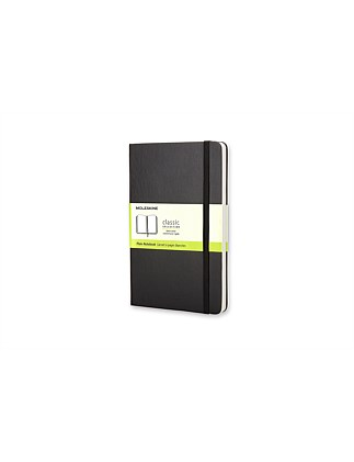 Classic Hardcover Unruled Notebook Pocket