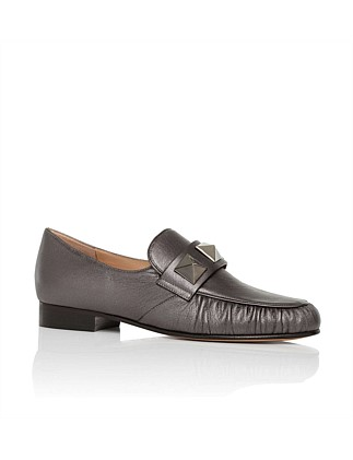 Laminated Studded Loafer