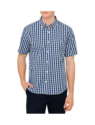 Smith One Pocket Small Check S/S Shirt