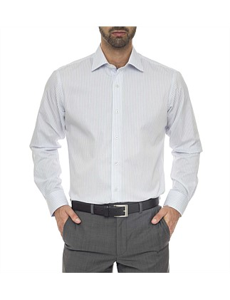 Bernard Classic Fit - Cotton/Polyester Stripe Shirt