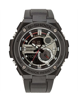 G Shock, G Steel, S/Steel Case, Blk/Blk, Resin