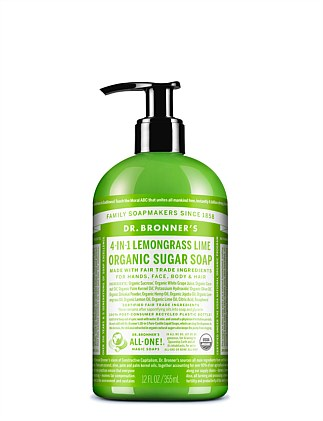 Organic Pump Soap 355ml - Lemongrass/Lime