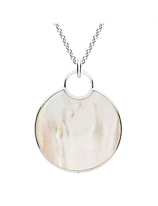 Reflection Mother of Pearl Pendant, Large