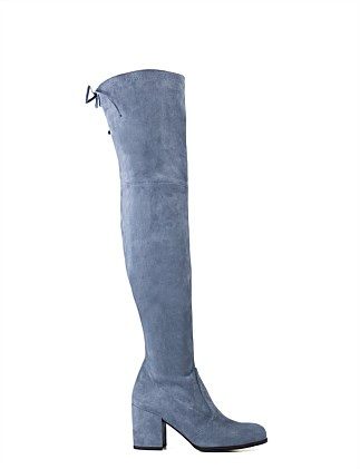 750200f1fb68 Tieland Block Heel Over The Knee Boot Special Offer. DENIMSUE  NBLUSUE. Stuart  Weitzman