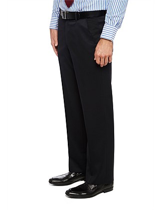 Fl Fr Wool/Pol/Elast Plain Flexi Trouser