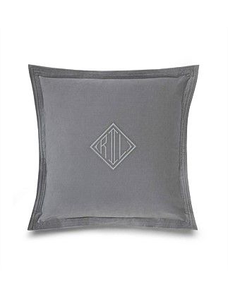 Rl Logo Velvet Cushion 50x50 W