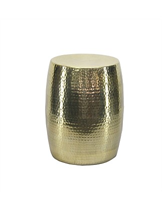 Shiny Gold Hammered Drum 39x48cm