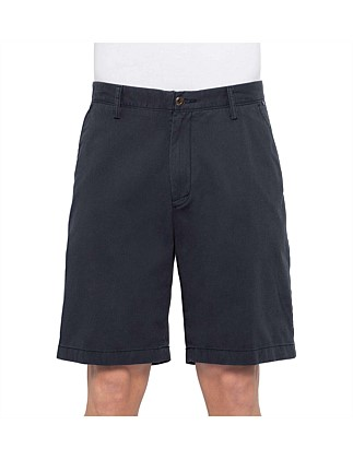 Flat Front Cotton Twill Short