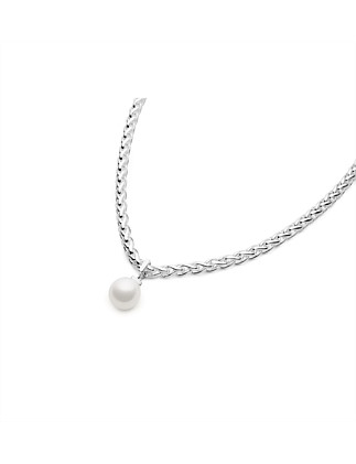 Geometric Sliding Pearl Necklace