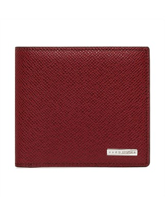 Signature Embossed Leather 8cc Billfold Wallet