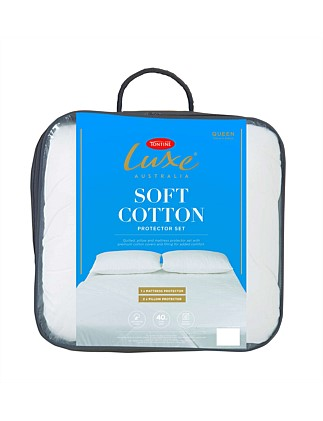 Luxe Soft Cotton Mattress Protector King