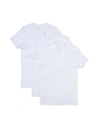 Jersey V-Neck T-Shirt Pack of Three