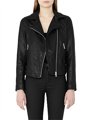 Caden Leather Biker Jacket